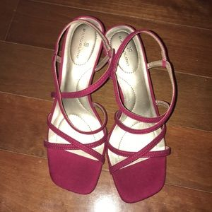 NEW Bandolino fuchsia pink Thin block heel shoes
